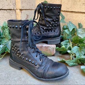 Steve Madden Ladi Luck Studded Combat Boots